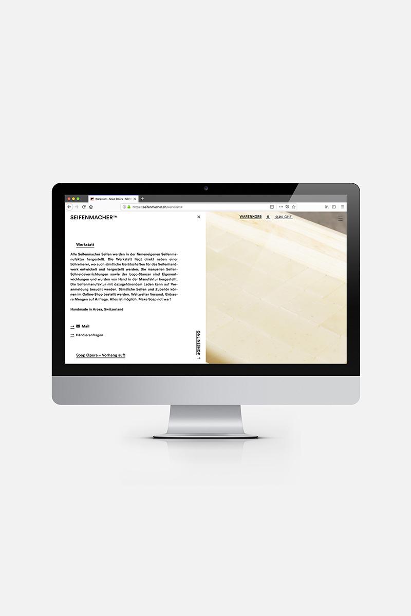 Webseite Desktop